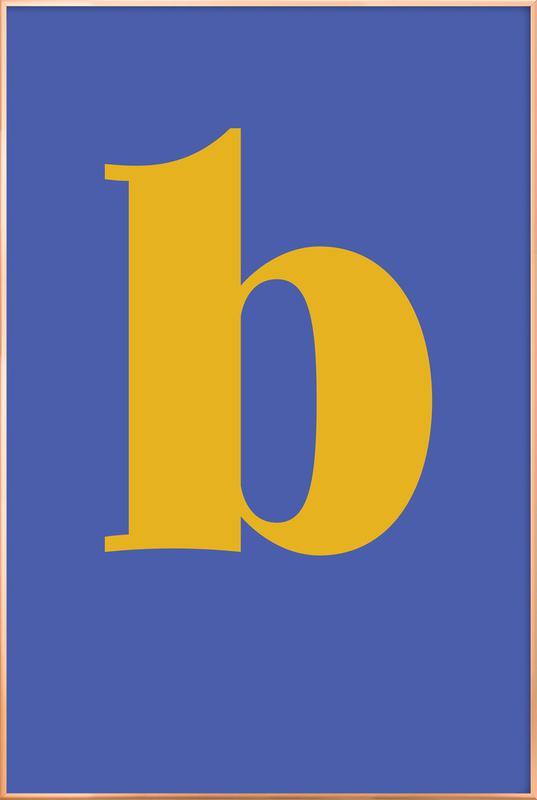 Blue Letter B affiche sous cadre en aluminium