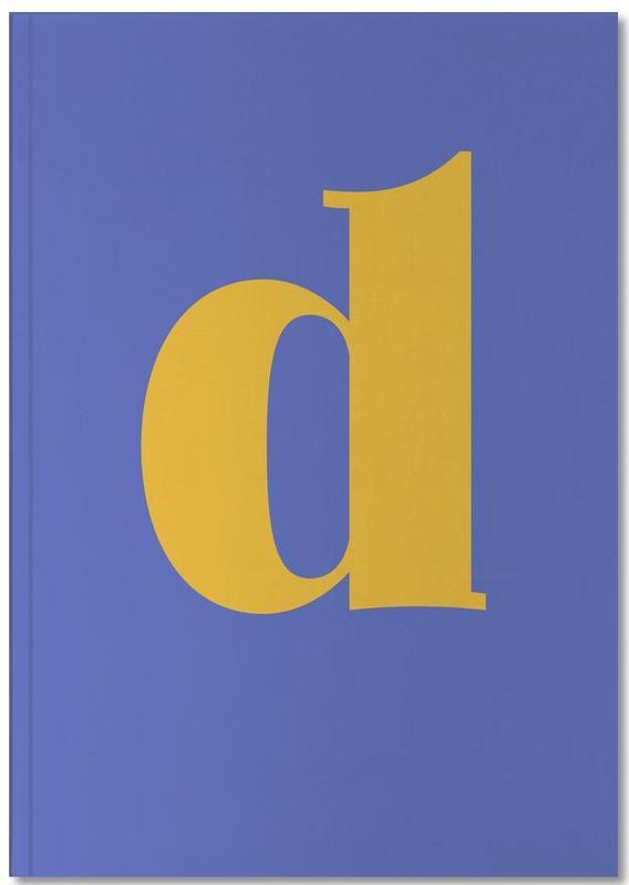 Blue Letter D Notebook