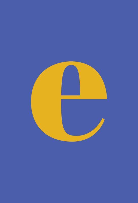 Blue Letter E tableau en verre