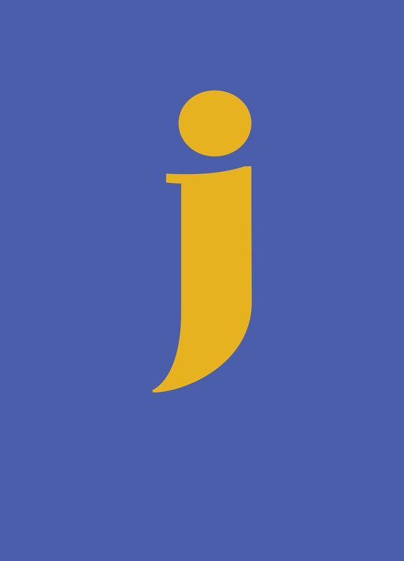 Blue Letter J toile
