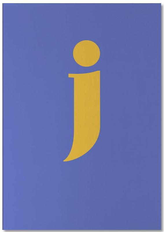 Blue Letter J Notepad
