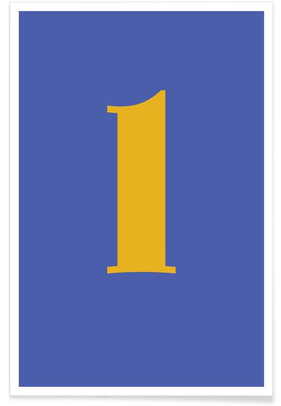 Blue Letter L Poster