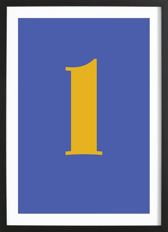Blue Letter L Framed Print