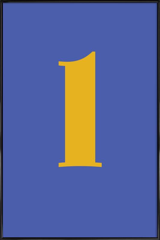 Blue Letter L Framed Poster