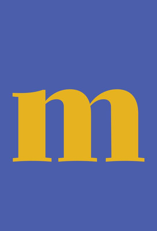 Blue Letter M Impression sur alu-Dibond