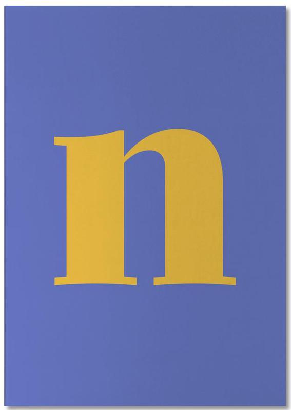 Blue Letter N bloc-notes