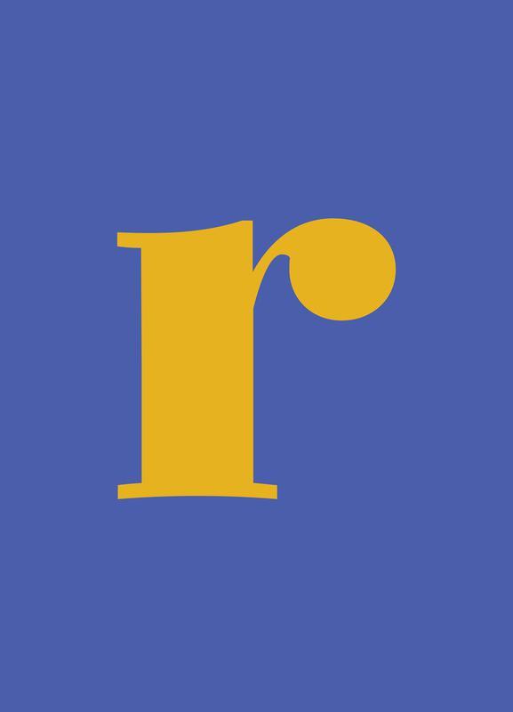 Blue Letter R toile