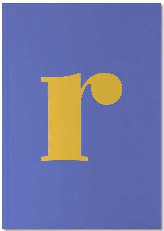 Blue Letter R Notebook