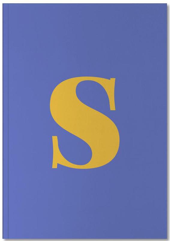 Blue Letter S Notebook
