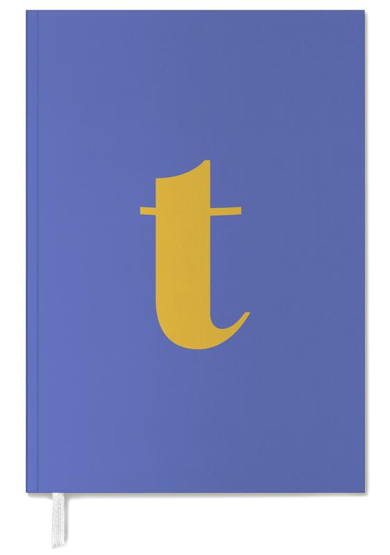Blue Letter T Personal Planner