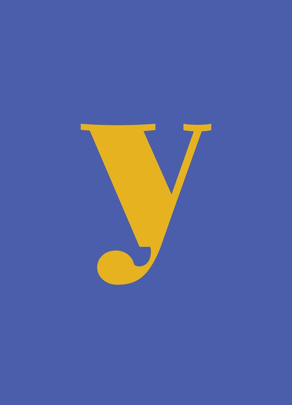 Blue Letter Y Canvas Print