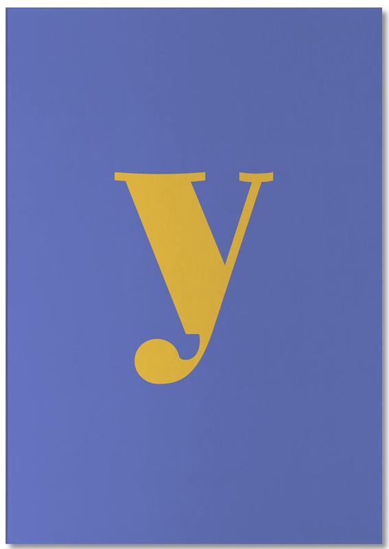 Blue Letter Y -Notizblock