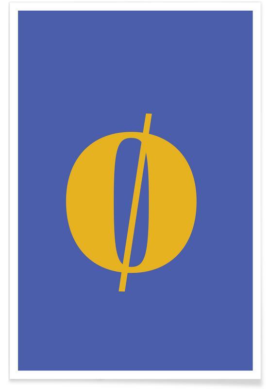 Blue Letter ø affiche