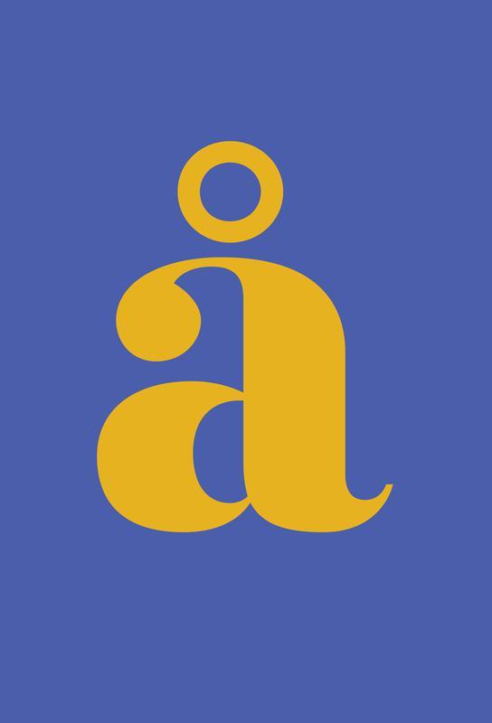Blue Letter å Aluminiumtavla