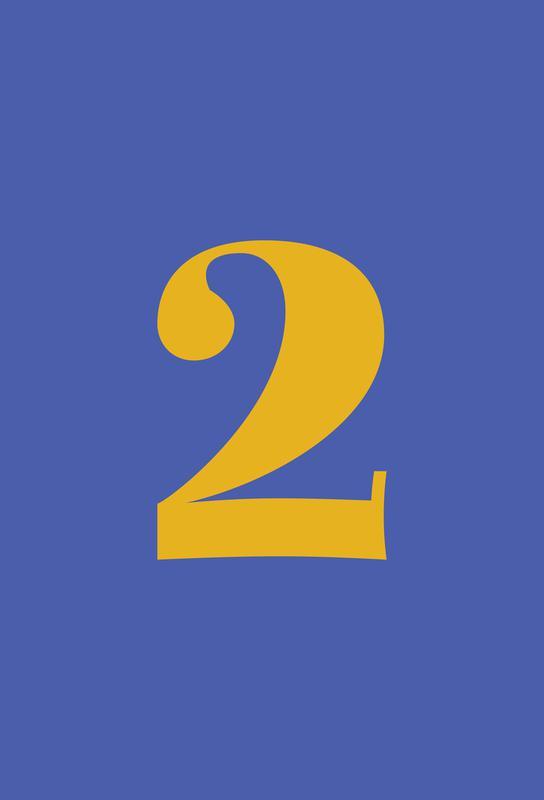 Blue Number 2 Impression sur alu-Dibond