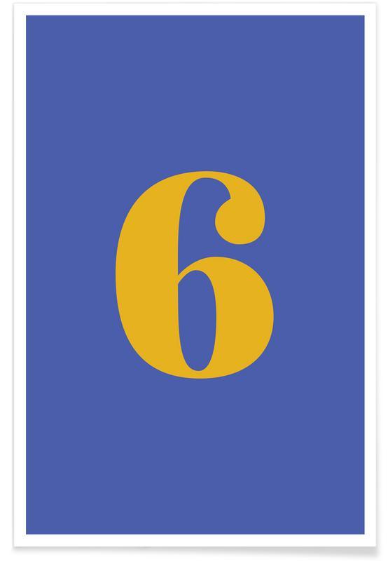 Blue Number 6 affiche