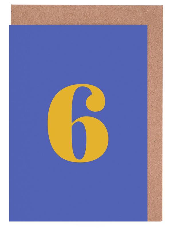Blue Number 6 cartes de vœux