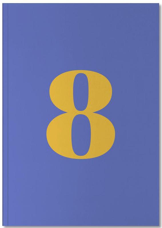 Blue Number 8 Notebook