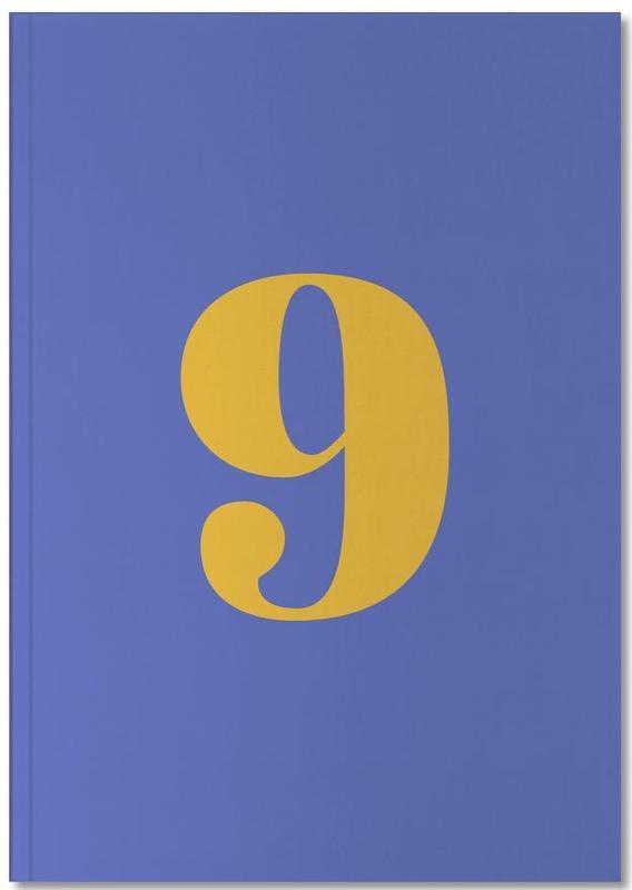 Blue Number 9 Notebook