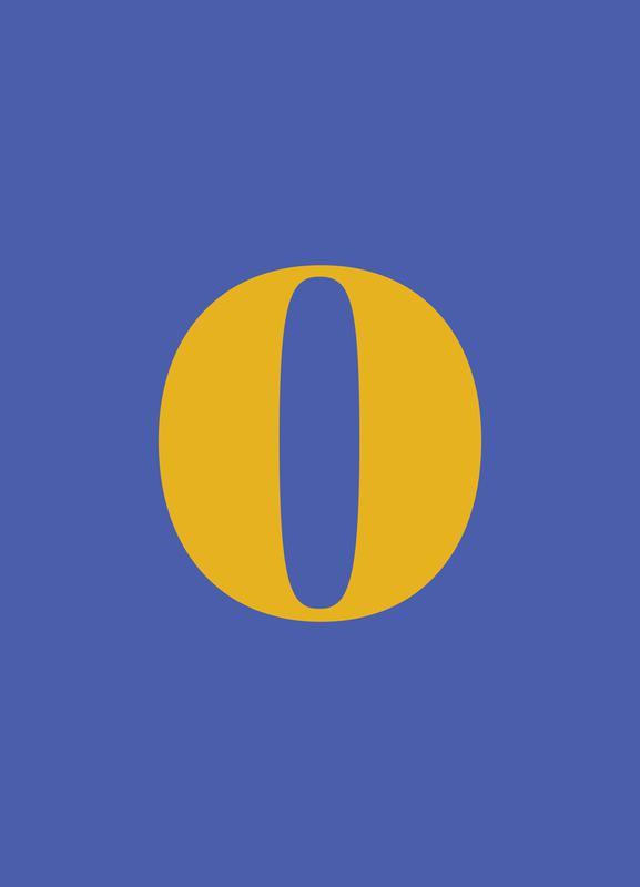 Blue Number 0 Canvas Print