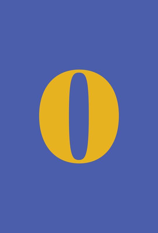 Blue Number 0 tableau en verre