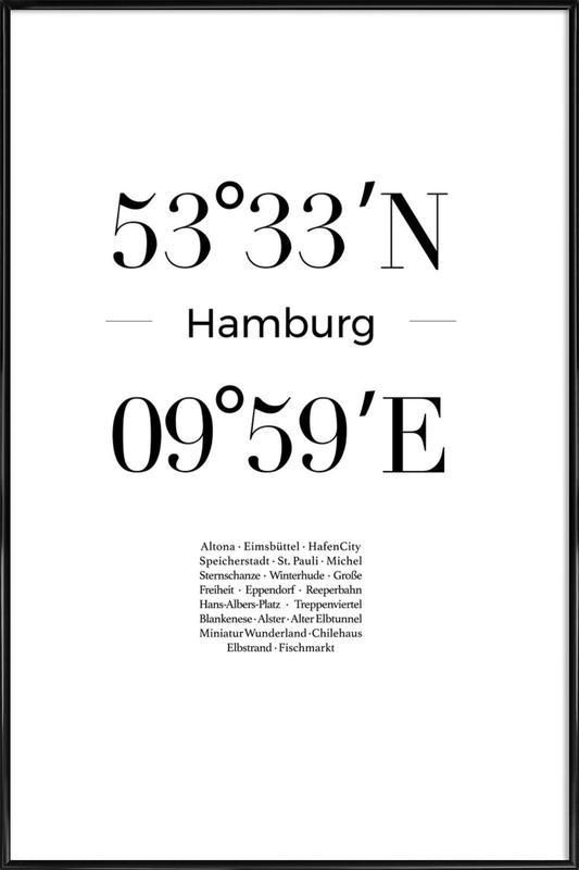 Hamburg affiche encadrée