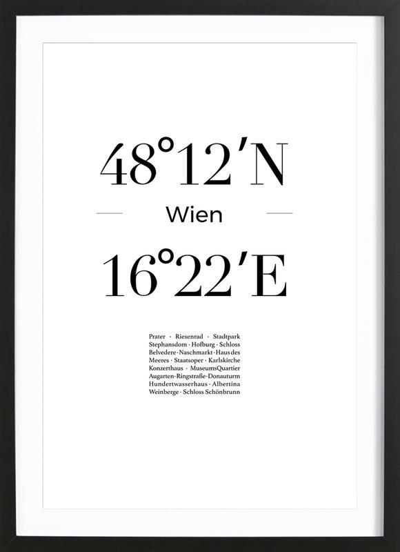Wien -Bild mit Holzrahmen