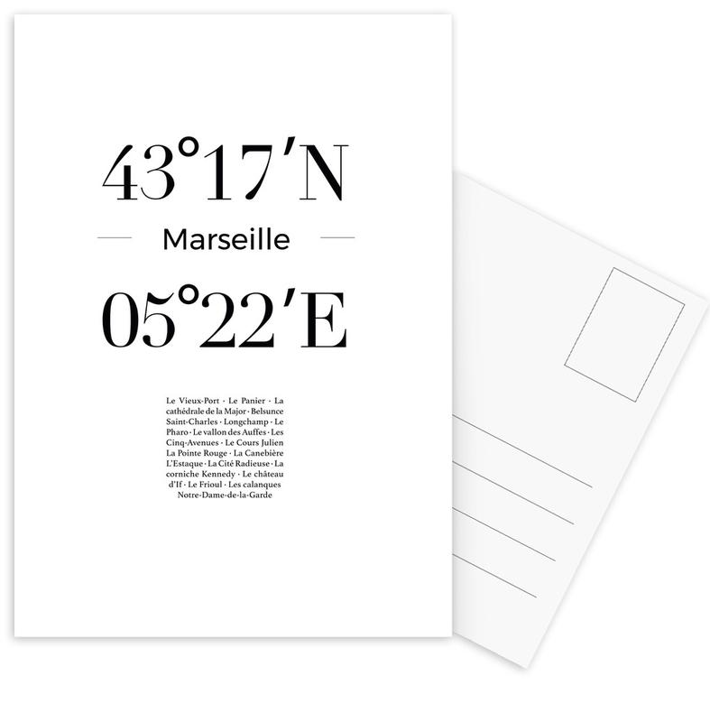 Marseille -Postkartenset