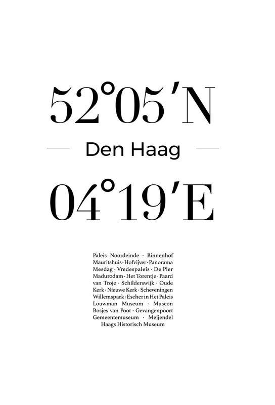 Den Haag Aluminium Print