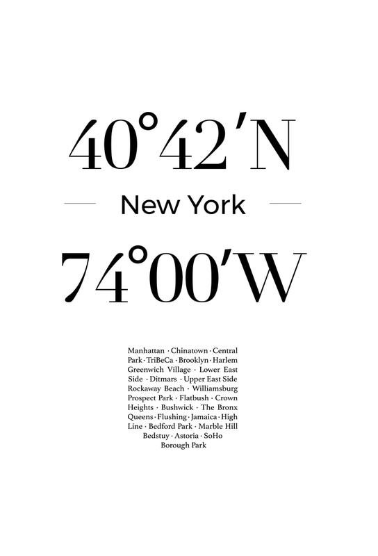 New York -Acrylglasbild