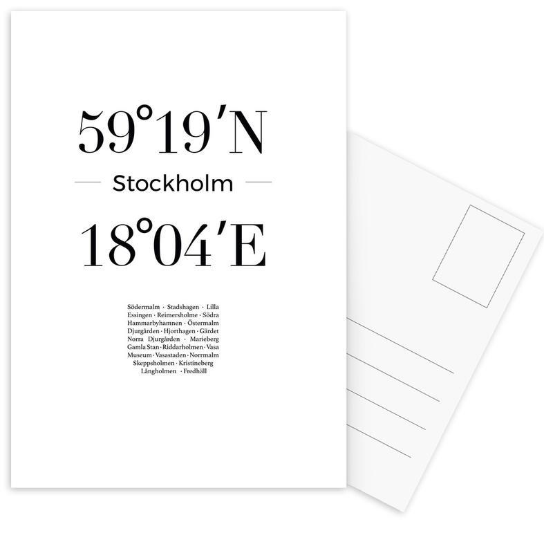 Stockholm -Postkartenset