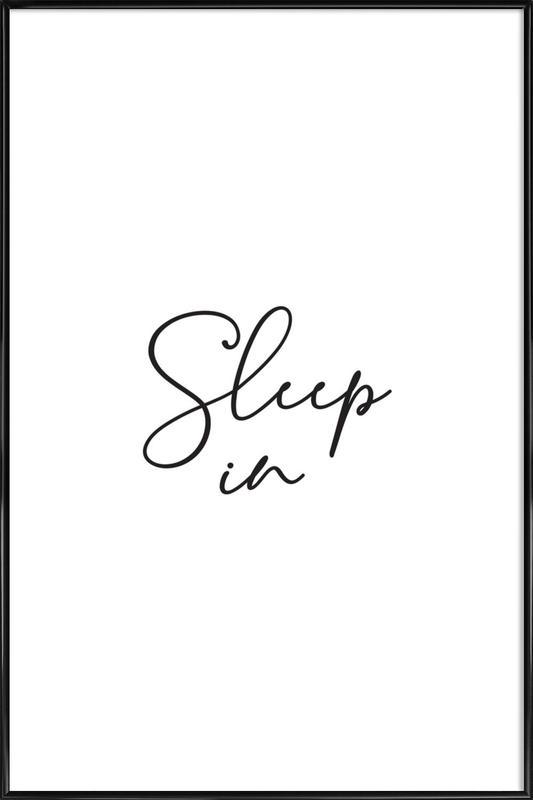 Sleep in - White ingelijste poster