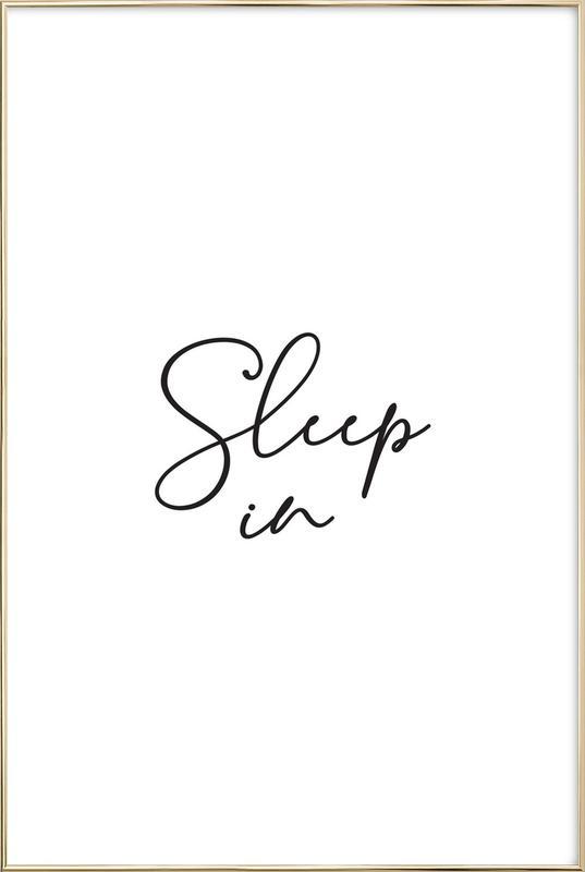 Sleep in - White poster in aluminium lijst