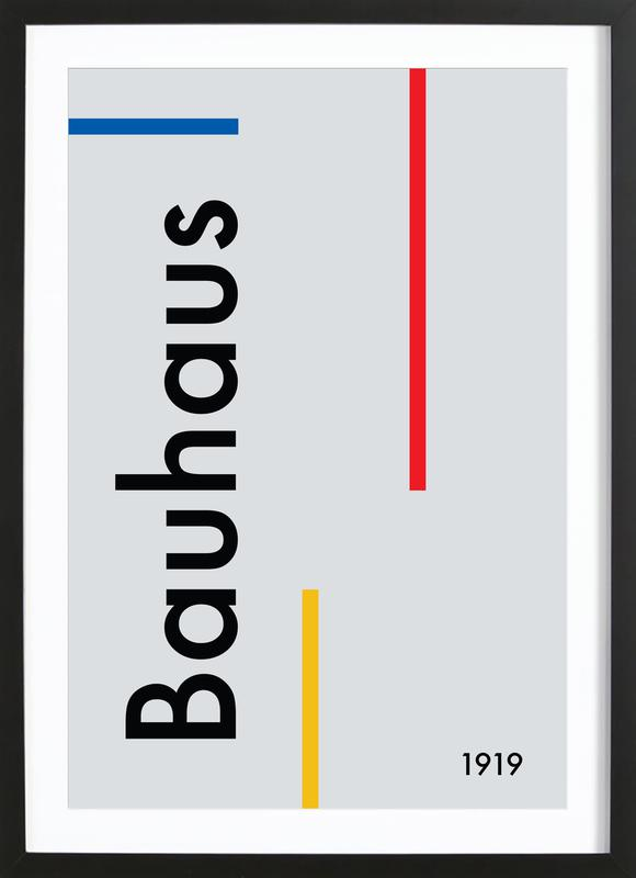 Bauhaus 1919 -Bild mit Holzrahmen