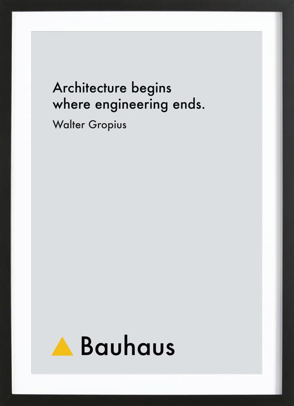Gropius - Architecture Framed Print