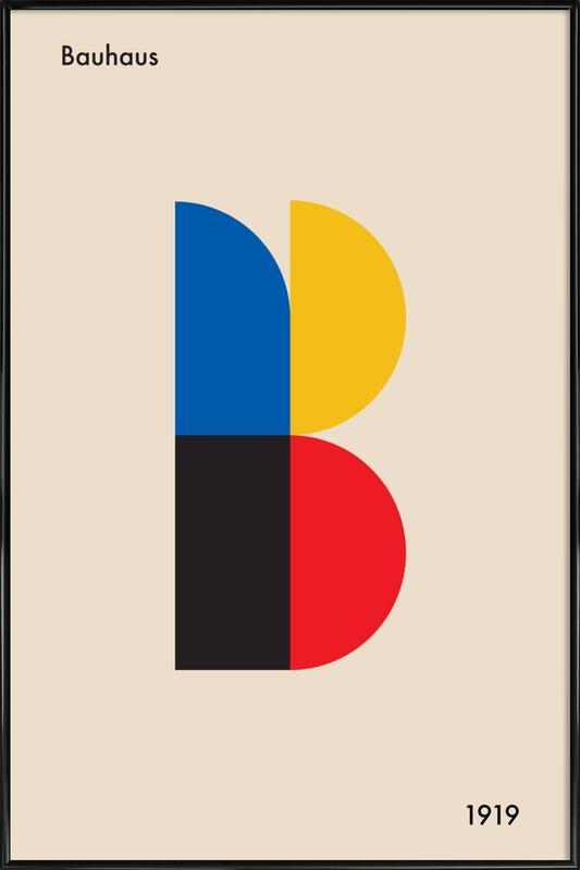 B for Bauhaus affiche encadrée