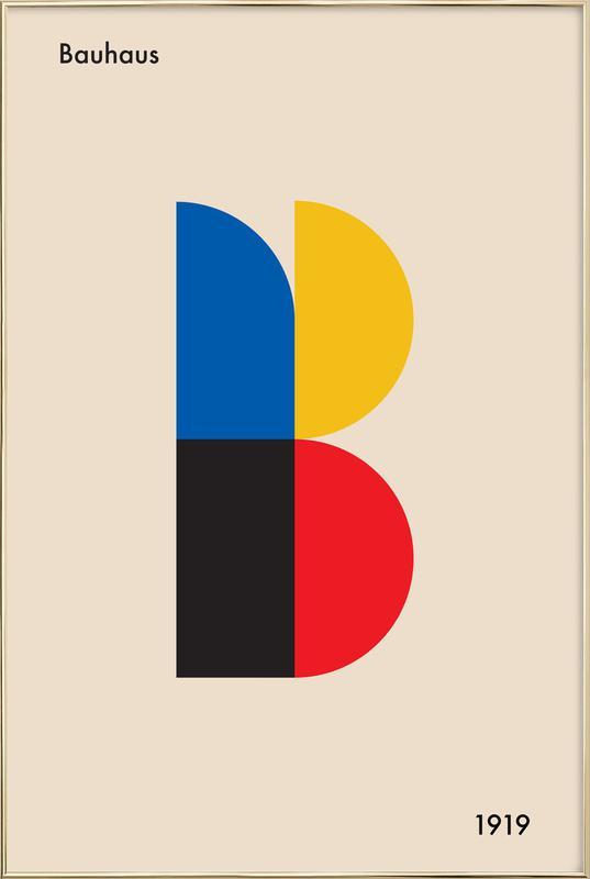 B for Bauhaus Poster in Aluminium Frame