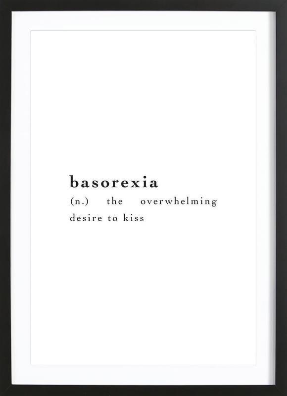 Basorexia -Bild mit Holzrahmen