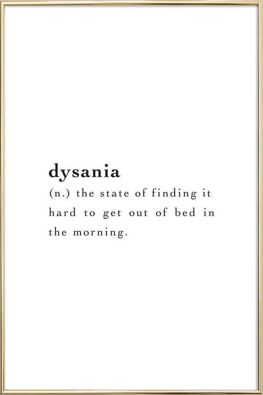 Dysania affiche sous cadre en aluminium