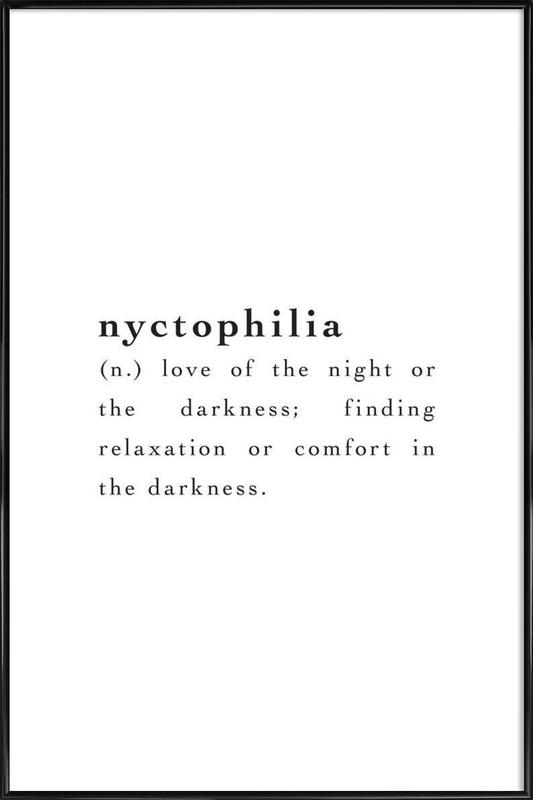 Nyctophilia Framed Poster