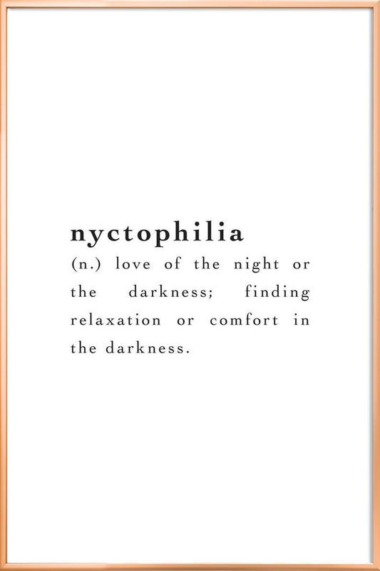 Nyctophilia Poster in Aluminium Frame