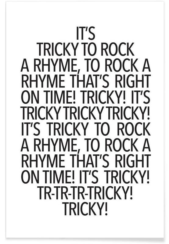 Rock a rhyme Poster