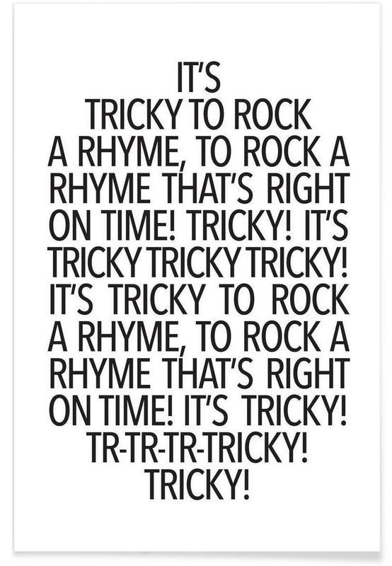 Rock a rhyme póster