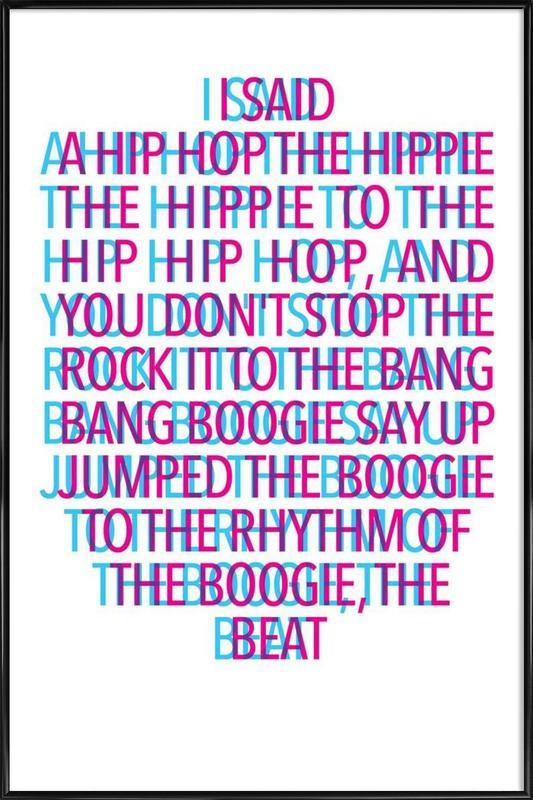 Delight stereo poster con cornice