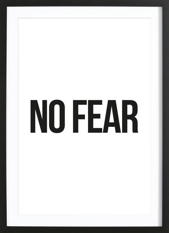 No Fear Poster i träram