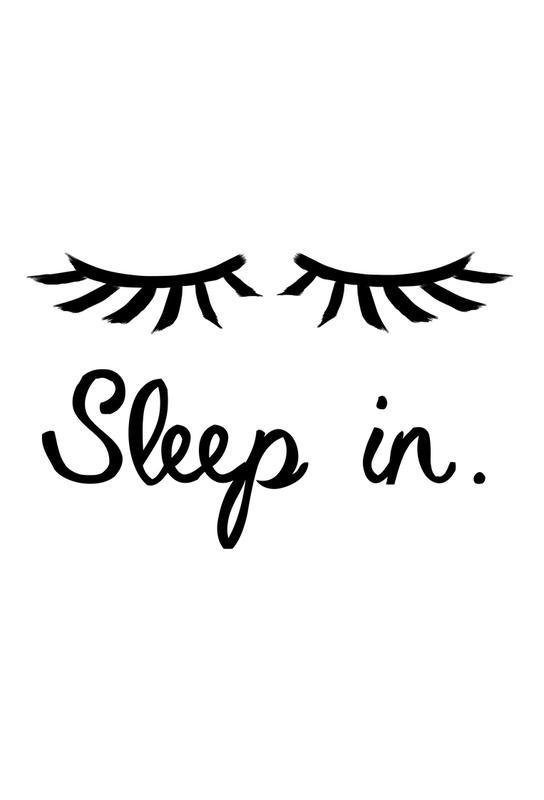 Sleep In -Acrylglasbild