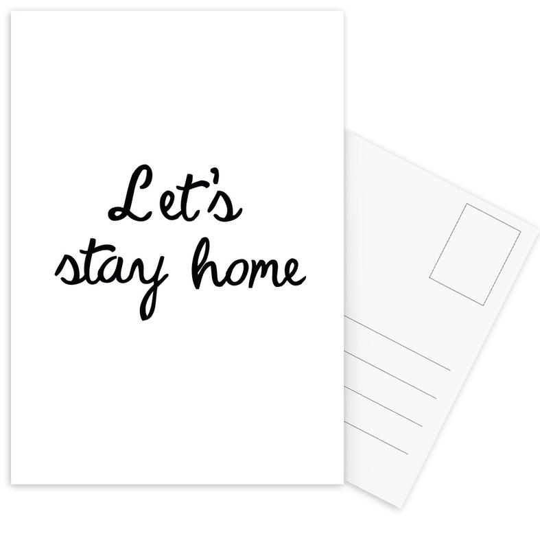 Let's Stay Home -Postkartenset