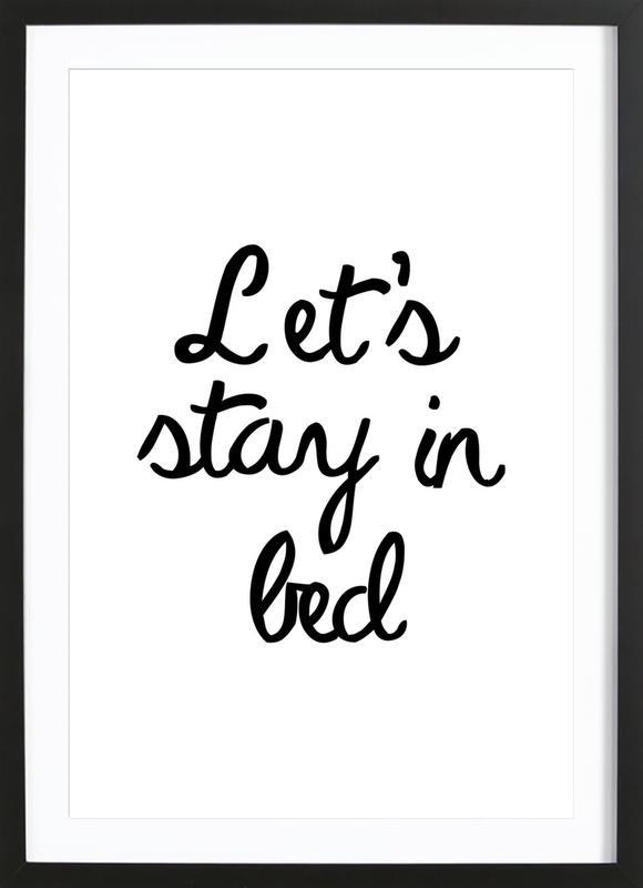 Let's Stay In Bed -Bild mit Holzrahmen