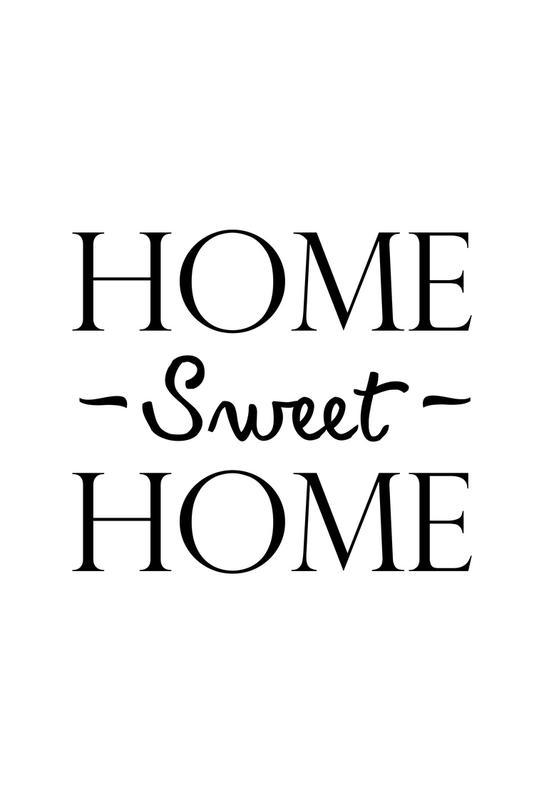 Home Sweet Home Aluminium Print