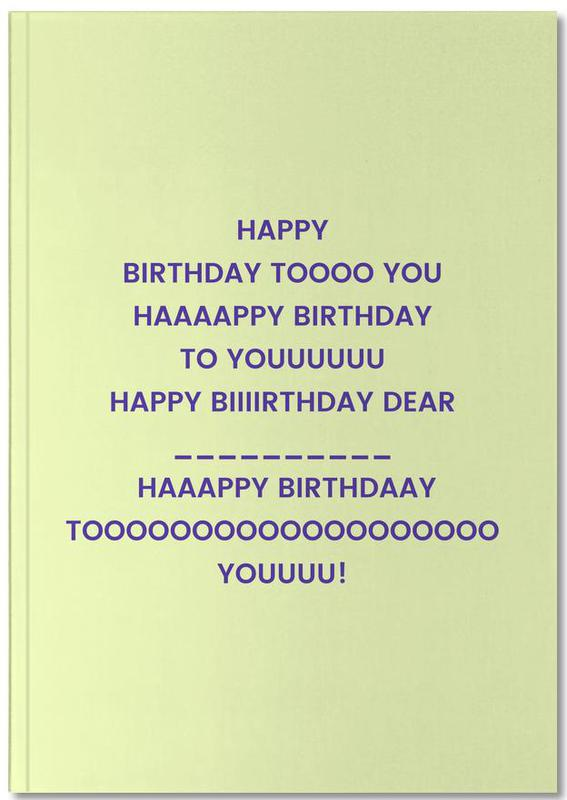 Happy Birthday to You Notebook